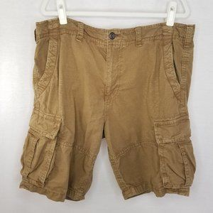 American Eagle size 38 brown cargo shorts